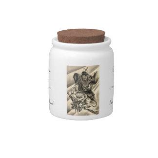 Tigre japonés del samurai del demonio del vintage  plato para caramelo