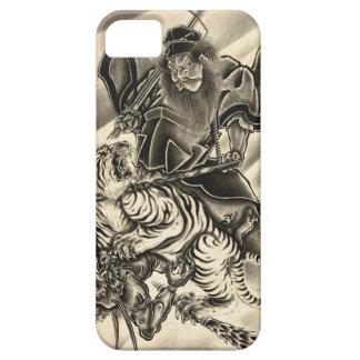 Tigre japonés del samurai del demonio del vintage  iPhone 5 fundas