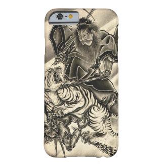 Tigre japonés del samurai del demonio del vintage funda de iPhone 6 barely there