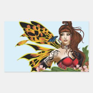 Tigre Lillie Pegatina Rectangular