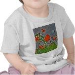 Tigre Lilys y cielos nublados Camisetas