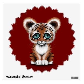 Tigre lindo Cub de bebé con los ojos azules en de  Vinilo Decorativo