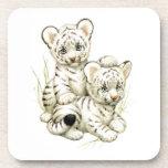 Tigre lindo Cubs de la nieve Posavasos