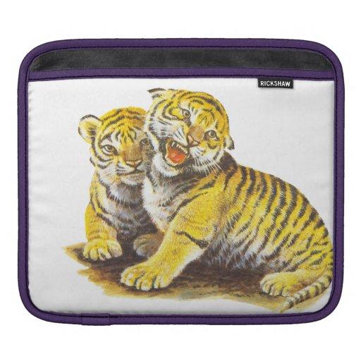 Tigre lindo Cubs del vintage Funda Para iPads