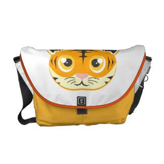 Tigre lindo del dibujo animado bolsas messenger