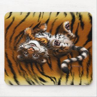 Tigre lindo alfombrillas de raton