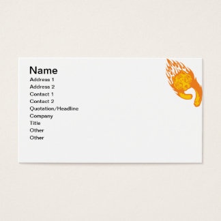 Tigre llameante #1 tarjeta de negocios