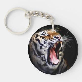 tigre llavero redondo acrílico a una cara