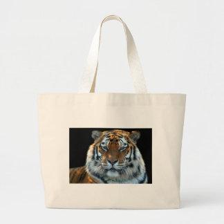 Tigre majestuoso de Sumatran Bolsa Tela Grande
