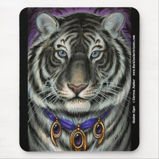 Tigre Mousepad de la sombra Alfombrillas De Raton