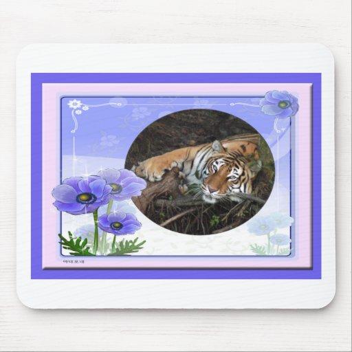 Tigre Mousepad de la tarjeta del día de San Valent