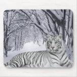 Tigre Mousepad del blanco puro Tapete De Raton