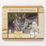 Tigre Mousepad del navidad Tapetes De Ratones