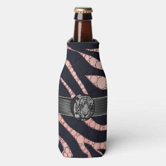 Tigre negro del negro de la cebra del melocotón enfriador de botellas