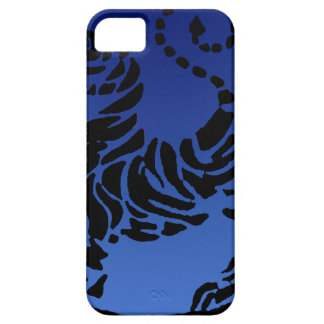 Tigre negro y azul de Shotokan iPhone 5 Carcasa