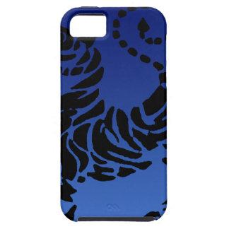 Tigre negro y azul de Shotokan iPhone 5 Fundas