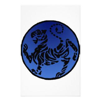 Tigre negro y azul de Shotokan Papeleria De Diseño