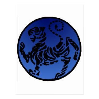 Tigre negro y azul de Shotokan Postal