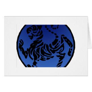 Tigre negro y azul de Shotokan Tarjeta De Felicitación