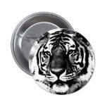 Tigre negro y blanco pin