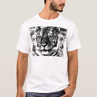 Tigre negro y blanco playera