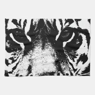 Tigre negro y blanco toallas de cocina