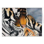 Tigre Notecards el dormir Tarjeta