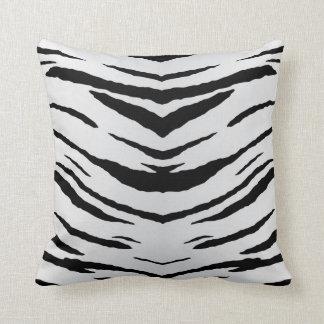 Tigre o cebra blanco rayada almohadas