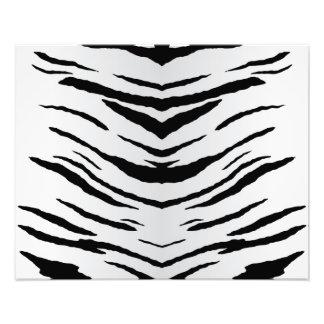 Tigre o cebra blanco rayada fotografía