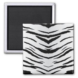 Tigre o cebra blanco rayada imán para frigorífico