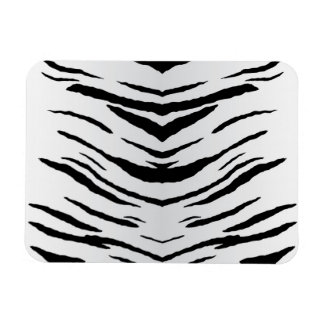 Tigre o cebra blanco rayada imán rectangular