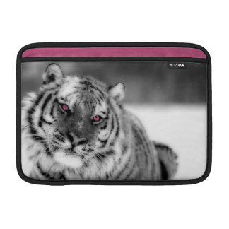 Tigre observado rosa fundas para macbook air