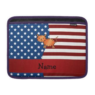Tigre patriótico conocido personalizado fundas MacBook