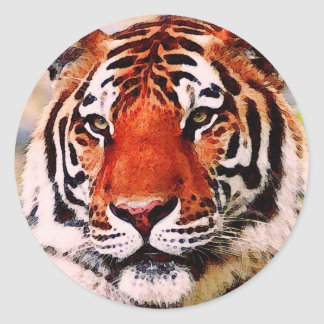 Tigre Etiqueta Redonda
