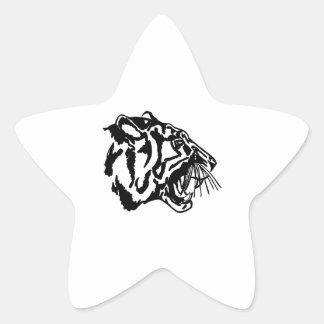 Tigre Calcomania Forma De Estrella Personalizadas