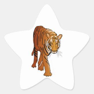 Tigre Calcomania Cuadrada Personalizada