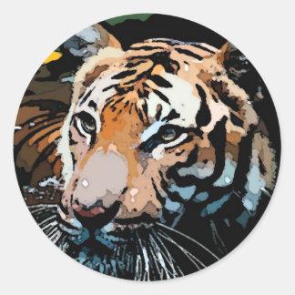 Tigre Pegatinas Redondas