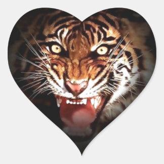 Tigre Pegatinas De Corazon