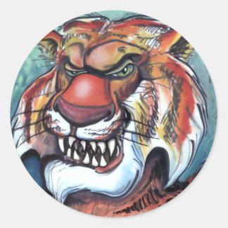 Tigre Etiquetas Redondas