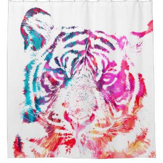 Tigre pintado cortina de baño