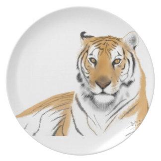 Tigre Plato Para Fiesta