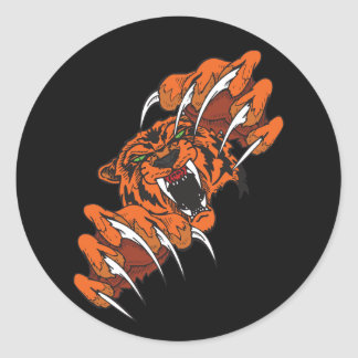 Tigre que lucha pegatinas