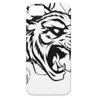 Tigre que rasga a través de la pared iPhone 5 carcasa