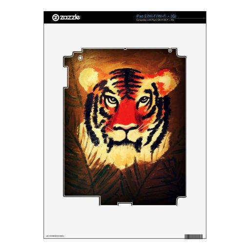 Tigre que se agacha iPad 2 skin