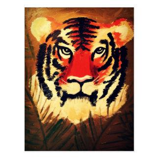 Tigre que se agacha tarjetas postales