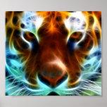 Tigre que sopla de la mente poster