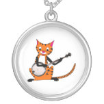 Tigre que toca el banjo colgante redondo