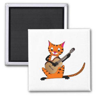 Tigre que toca la guitarra iman para frigorífico