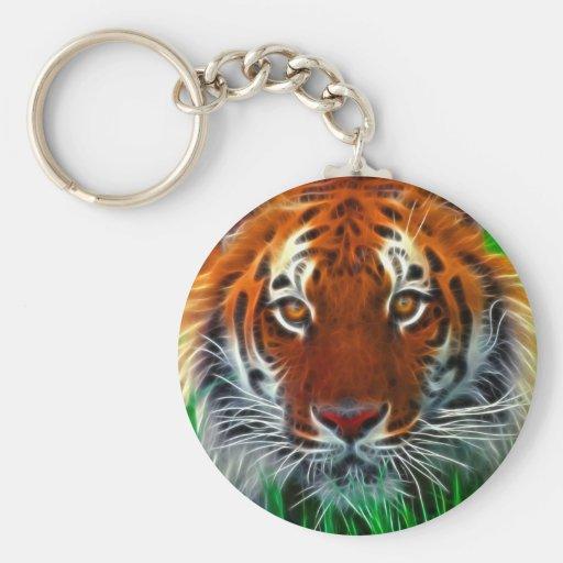 Tigre raro de Sumatran de Indonesia Llaveros Personalizados