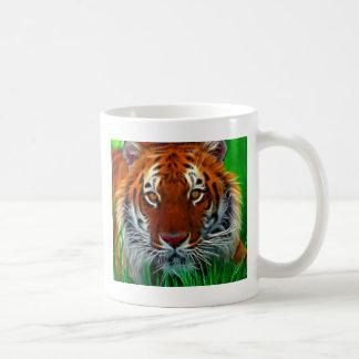 Tigre raro de Sumatran de Indonesia Taza Básica Blanca